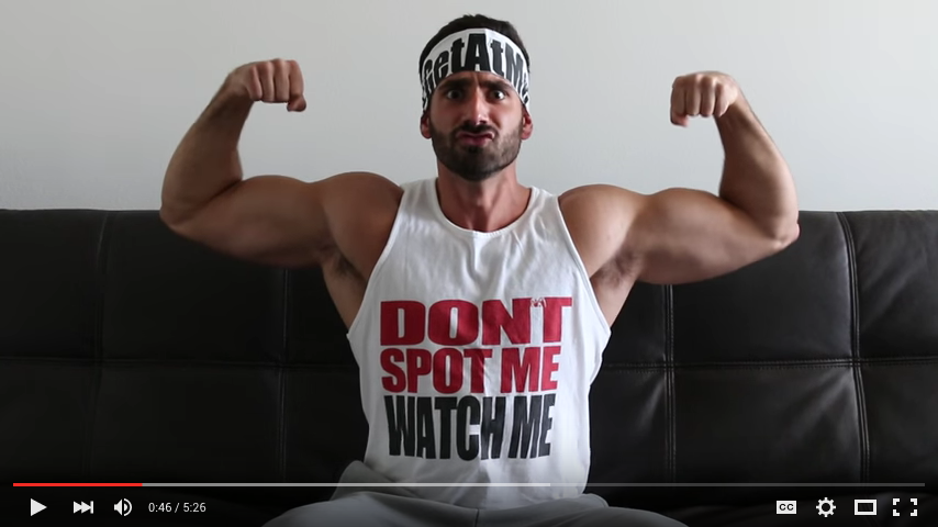 Screenshot from BroScienceLife video