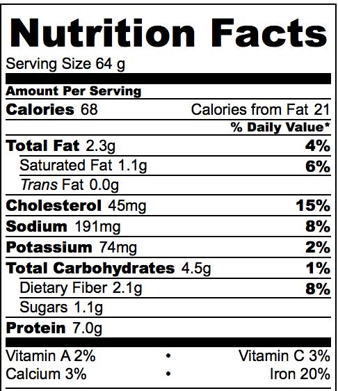 Nutrtition Information