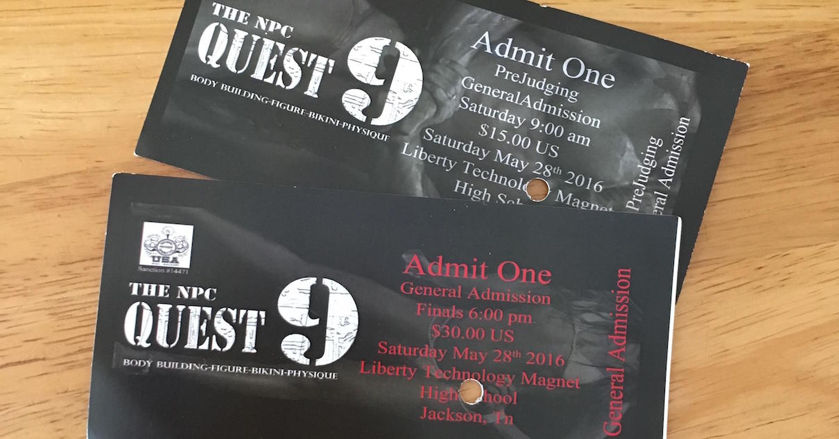 Tickets To The Competition
