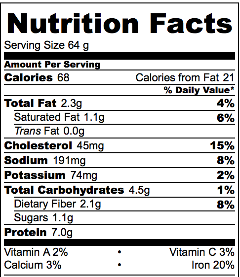 Nutrtition Information